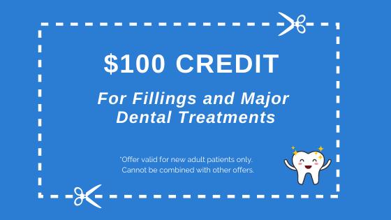 100 dental credit
